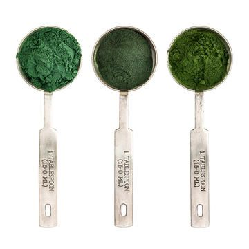 poudres vertes bénéfiques pour la santé